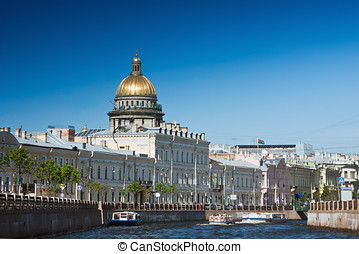Moika and architecture Sankt Petersburg, Russia