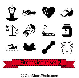 Fitness icon 2 - Professiona fitnessl icons for your website...