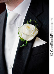 Button Hole - Groom's buttonhole.