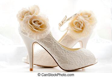 Bridal shoes - Stylish and elegant bridal wedding shoes.