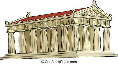 Parthenon - The Parthenon on a white background vector...