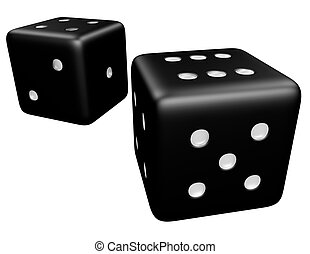 3d Render of a Pair of Dice Isolated on White