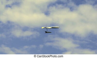 Hang Glider 07 - Hang gliding high above the Columbia Valley...