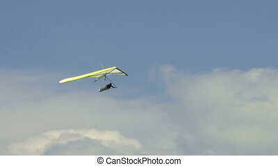 Hang Glider 02 - Hang gliding high above the Columbia Valley...
