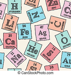 Chemical elements - periodic table - seamless pattern...