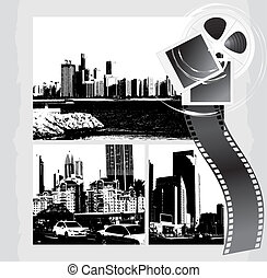 Cityscapes and film objects