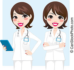Professional Doctor Woman - Illustration of pretty...