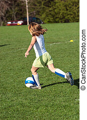 Soccer Player Kicking 2