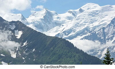 Mont Blanc mountain massif (view fr - Mont Blanc mountain...