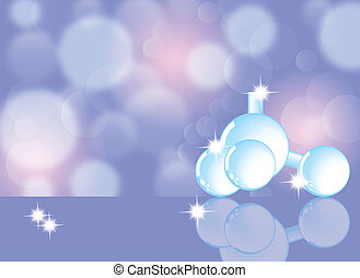 Molecule, molecular structure, science abstract background,...