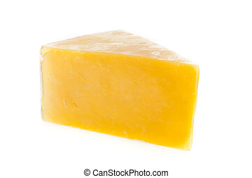 Traditional Yellow Cheddar Cheese on a background