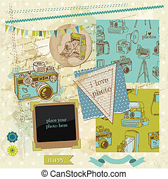 Scrapbook Design Elements - Vintage Photo Camera Scrap - in...