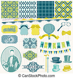 Scrapbook Design Elements -Vintage Gentlemens Accessories...