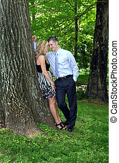 Adoring - Beautiful couple laugh and share their dreams...