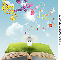 open book music - open book of flower musical background