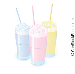Milkshakes vector illustration - Vector illustration of...