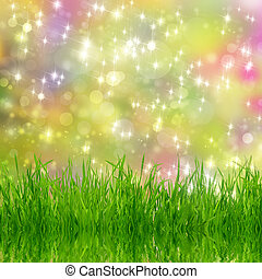 Natural background with grass