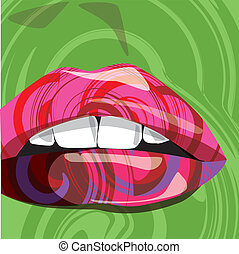 Colorful Mouth, Vector illustration