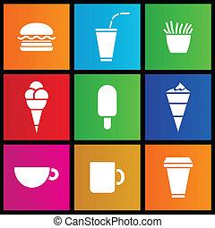 estilo, creme,  metro, alimento, café, gelo, rapidamente