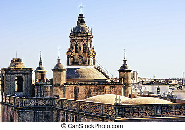 Seville, church - View on Seville from the roof of...