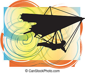 Hang Glider Vector Illustration