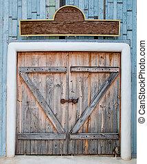 The Old wooden door in farm