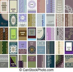 40 vertical business cards Ancient background