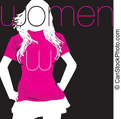 Fashion Woman. Vector illustration