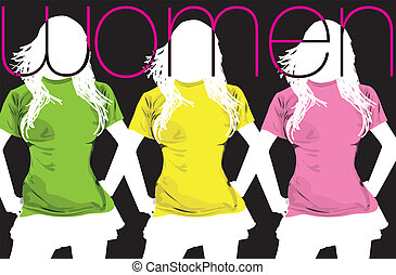 Fashion Women. Vector illustration