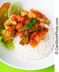 pork sweet and sour pork saia food.