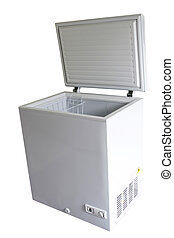 Freezer - Open freezer isolated on plain background