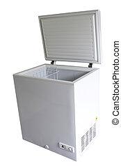 Freezer - Open freezer isolated on plain background