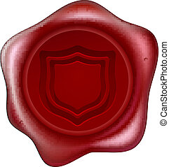 Shield wax seal