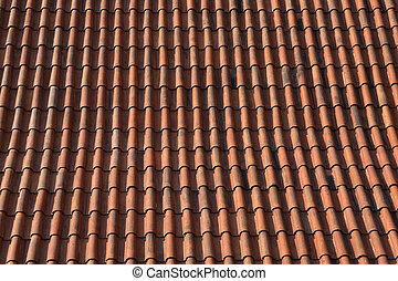 Tile Roof Background - Full frame real red tiling roof Good...