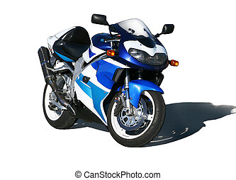 motorcycle. - The motorcycle costing on the area on evening...