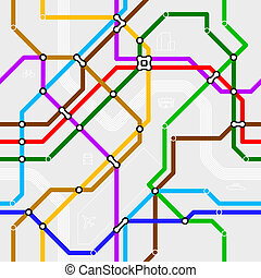 Seamless metro scheme illustration