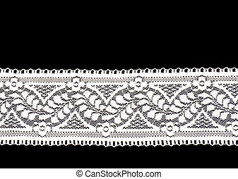 Vintage lace on black background