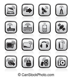 wireless and technology icons