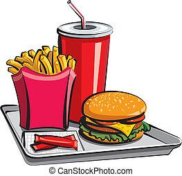 rapidamente, alimento, refeição