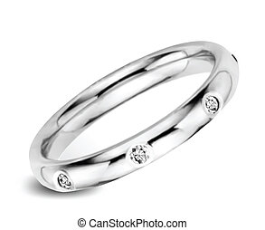 Ring With Diamonds. Vector
