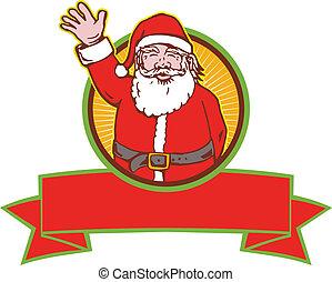 Santa Claus Father Christmas Cartoon - Retro style...