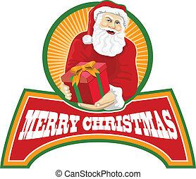 Santa Claus Father Christmas Retro - Retro style...