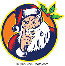 Santa Claus Father Christmas Retro - Retro style...