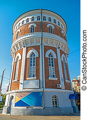 Water tower in the Orenburg