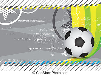 grunge soccer design background