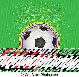 grunge design soccer background