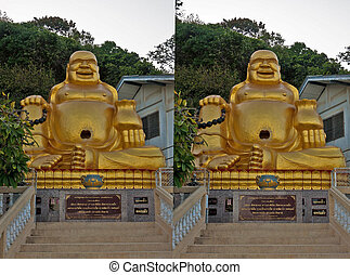 Stereo 3d photo of buddhism God