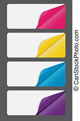 Banners with different corner and place for your text. vector illustration