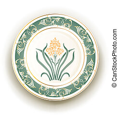 plate with art nouveau design
