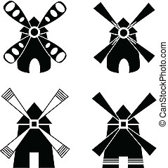 Strong windmill Element for design vector illustration